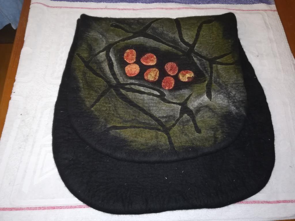 Filztasche beim Trocknen