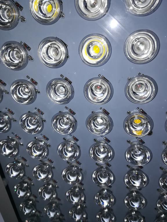 LED Growpanels mit Linsenvorsätzen