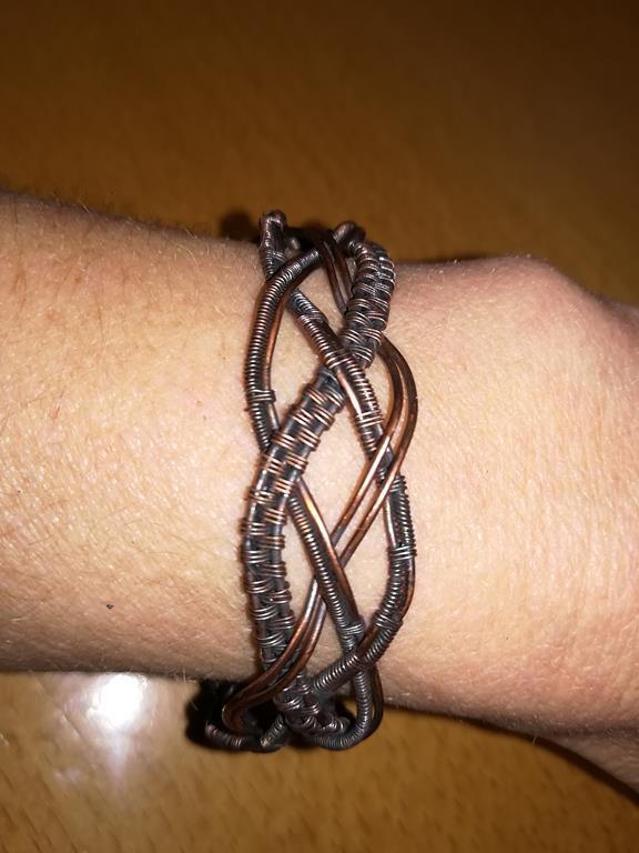 Drahtgewebtes Armband
